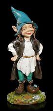 Gartenfigur - Pixie Elfe Zauberlehrling - Fantasy Gartendeko Kobold Zwerg