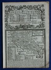 Antique county map from 'Britannia Depicta' , NORTHAMPTONSHIRE, Bowen, c.1724