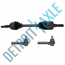 Front Driver Side CV Axle Drive Shaft + 2 NEW Outer Tie Rod Ford Explorer 4x4 4D