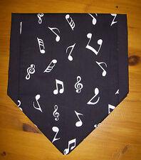Black & White Musical Notes Mini Table Runner Sideboard Decoration 53cm x 22cm