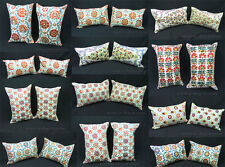 2 UZBEK SILK HAND EMBROIDERY SUZANI PILLOW CASES IN BIG VARIATIONS!