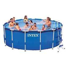 """Swimming Pool with Filter Pump Intex 15' x 48"""" Metal Frame Above Ground"""