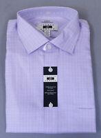 Joseph Abboud Men's Classic Fit Dress Shirt MC7 Lavender Check Size 17 34/35 NWT