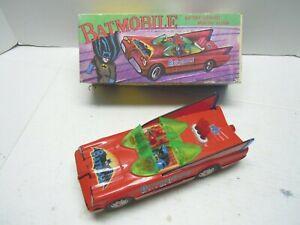 Vintage Tin Battery Op. Batmobile Car & BOX. Excellent Condition & Works. NORES