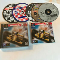 5 Game Formula 1 / CIB & Discs Bundle / Playstation 1 PS1 PS2/PS3 PAL Racing F1