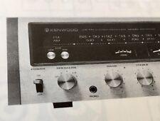 """Kenwood KR6600 Stereo Receiver """"Original"""" Vintage Owners Manual"""