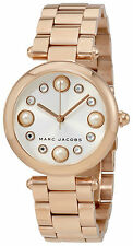 Marc Jacobs Dotty White Sunray Dial Ladies Rose Gold Tone Watch MJ3519
