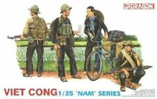 1:35 Dragon #3304 VIET CONG 'Nam Series' - 4 figures, one Female & bicycle bike