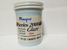 Mayco Series 2000 Ceramic Glaze Vintage 4 OZ. S-2115 Tahiti Blue Gloss