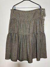 Nygardsanna Linen/Cotton Striped Skirt , Size:XL