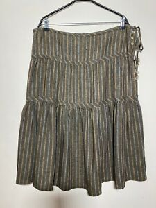 Nygardsanna Linen/Cotton Striped Skirt , Size:XL