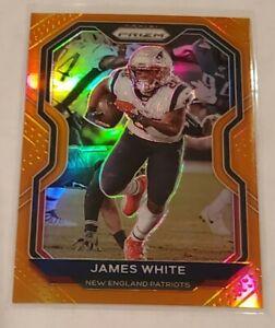 2020 Panini Prizm Football James White Orange /249 Prizm #21 Patriots