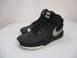 Nike Boy's Black Silver Team Hustle D7 Grade School Basketball High Top Shoes-5Y