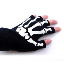 Skeleton Design Winter Gloves Half Fingers Mittens Suitable For Baby Boys Wears