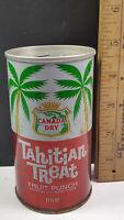 Canada Dry Tahitian Treat Fruit Punch Can Flat Pull Tab Top Miami Fla. 33148
