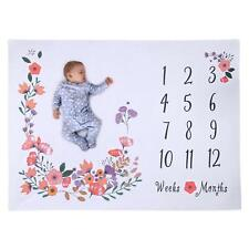 New Premium Milestone Blanket Photography Backdrop Photo Prop Baby Shower Gifts
