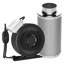 "VIVOSUN 4"" inch Inline Duct Fan w/ Controller & Air Carbon Filter Scrubber Combo"