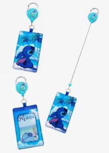 Disney Lilo & Stitch Scrump Retractable Lanyard ID Holder w/Clear ID Display