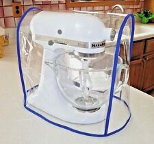 CLEAR MIXER COVER fits KitchenAid Artisan Tilt-Head - COBALT BLUE trim (4.5-5Qt)