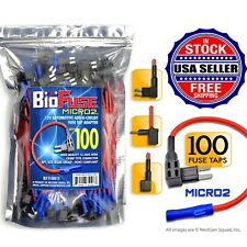 BioFuse® 100 PACK - Micro2 APT ATR - 16 AWG - Add Circuit - Fuse Tap Holders Lot