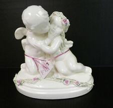 Von Ratibor White Ceramic Cherubs Kissing Figure Nwt $89.00