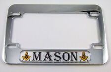 Mason Masonic Motorcycle Bike plastic ABS Chrome Plated License Plate Frame