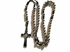 Rosary - metal prayer beads rosary  -  Rosary Crucifix Necklace R611-19E18