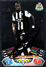 Newcastle United F.C Cheick Tiote Hand Signed 11/12 Match Attax.
