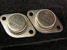 2 Vintage TI TIP563 NPN 400V 10A Power Transistors TO-3