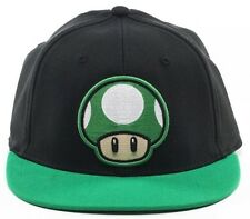Official Nintendo 1UP MUSHROOM HAT Mario Wiiu Era Fitted Flatbill Flex Cap NEW