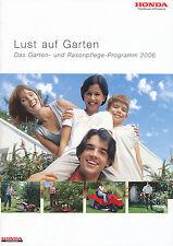1001HONMA Honda Prospekt 2006 Gartengeräte Rasenmäher Rasentraktor brochure