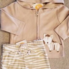 DARLING! NEW!! GYMBOREE 3-6 MONTH CUTE 2PC TAN ZEBRA JACKET OUTFIT