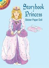 Dover STORYBOOK PRINCESS STICKER PAPER DOLL / mini book FREE US SHIPPING