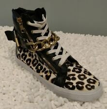 Juicy Couture high top leopard print sneakers size 7 $159. Rare/ sold out