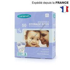 Sachets de conservation Lansinoh pour lait maternel Lot de 50