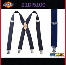 Dickies Men's Nylon X-Shaped Heavy Duty Industrial  Suspenders 21DI5100 NAVY
