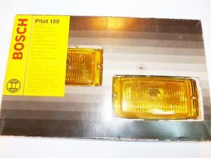 Fits Bosch Pilot 150 Halogen Yellow Fog Lamp Kit Universal Headlamps 0305406902