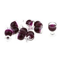 10 pièces de poupée 1/12 verres à vin miniatures gobelet chambres