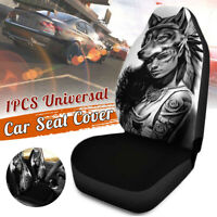 1Pcs Universal Wolf Girl All Car Van Seat Covers Front Cushion Full Protector