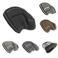 Women Men Knit Slouchy Baggy Beanie Oversized Winter Hat Ski Fleece Slouchy Cap