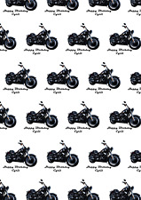 Personalised A2 Motorbike / Sportsbike /Motorcycle Print Wrapping Paper Birthday