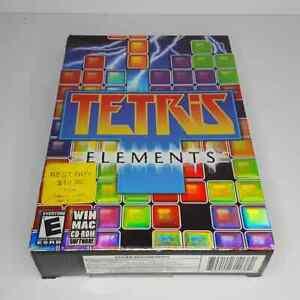 Tetris Elements PC CD-ROM Game Win/MAC 2004 Puzzle Box