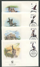 1988 - LOTTO/19318B - ISOLE VERGINI - PELLICANO BRUNO 4 FDC