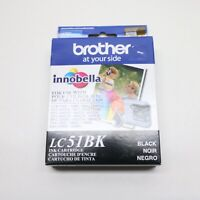 Brother LC51BK Black Ink Cartridge Innobella Genuine New