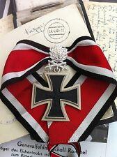 WW2 WWII WH Officer General German Knights Cross Silver Oakleaf Swords Diamonds
