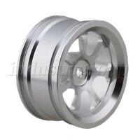 4Pcs Aluminum 2.6x5.2cm 7-Spoke Wheel Rims For RC1:10 On-Road Racing Car Silver
