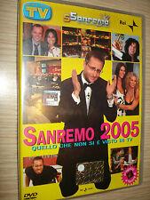 DVD SAN REMO 2005 QUELLO CHE NON USTED Y' VISTO EN LA TV PAOLO BALCK CLERICI