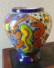 Decorative Table Vase Blue Brown White Red Yellow Green