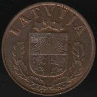 1937 Latvia 1 Santims Coin | European Coins | Pennies2Pounds