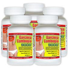 5 Garcinia Cambogia Extract Pure w Potassium Calcium 100% Pure Weight Loss HCA